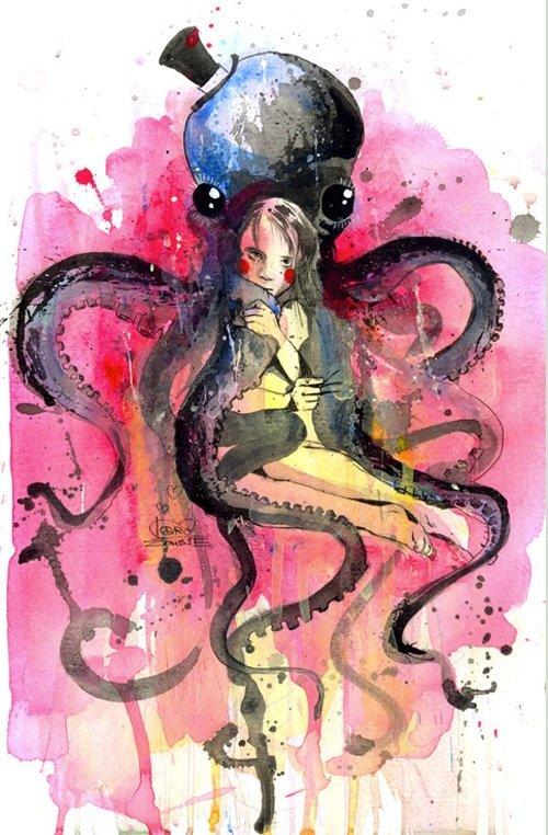 Lora Zombie artista Russa que possui uma arte obscura colorida e repleta de critica 10