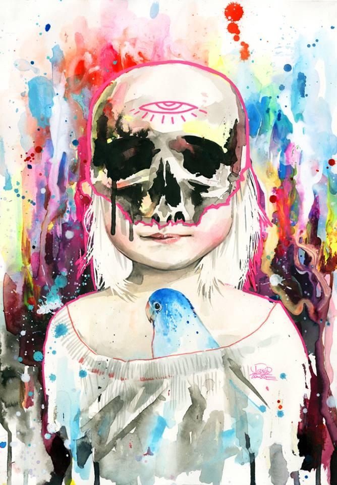 Lora Zombie artista Russa que possui uma arte obscura colorida e repleta de critica 13