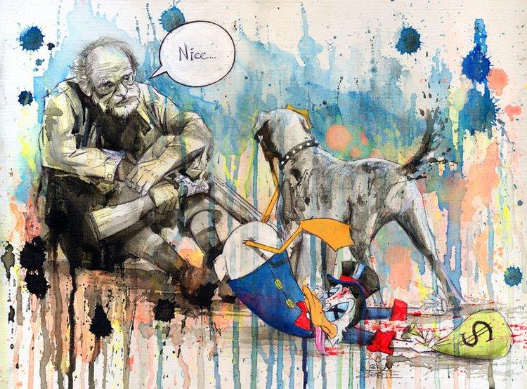 Lora Zombie artista Russa que possui uma arte obscura colorida e repleta de critica 4