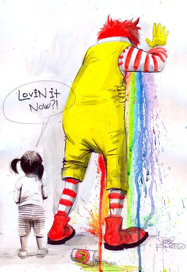 Lora Zombie artista Russa que possui uma arte obscura colorida e repleta de critica 6