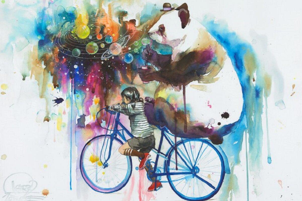 Lora Zombie artista Russa que possui uma arte obscura colorida e repleta de critica 8