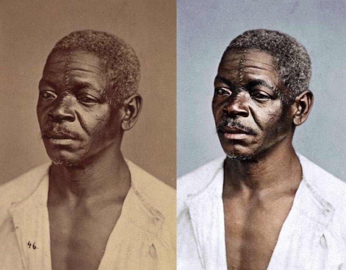 Marina Amaral artista digital restaura fotos tiradas antes da abolicao da escravidao 1