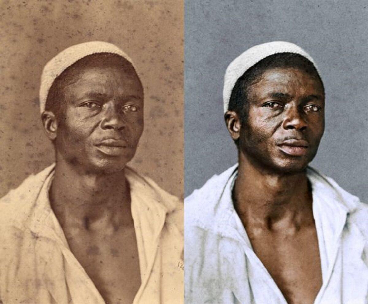 Marina Amaral artista digital restaura fotos tiradas antes da abolicao da escravidao 3