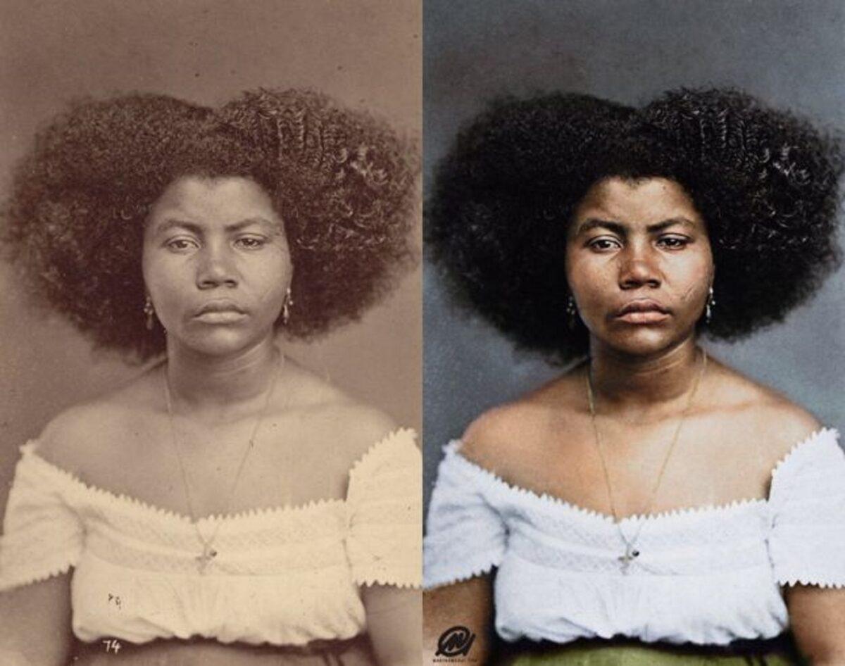 Marina Amaral artista digital restaura fotos tiradas antes da abolicao da escravidao 4