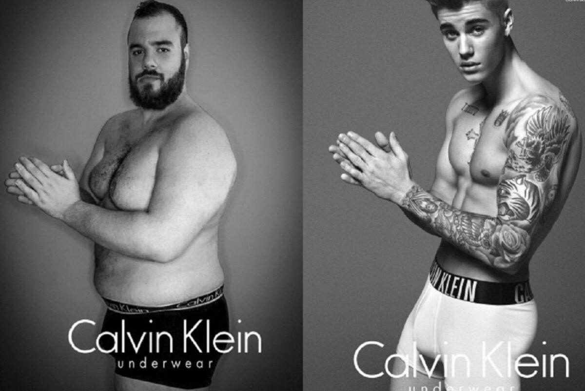 Ricardo Sfeir engenheiro recria publicidades da Calvin Klein e promove discussao sobre padroes de beleza e corpo masculino