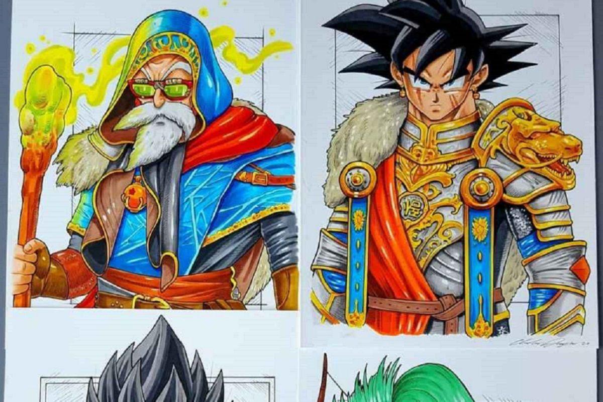 Andrew Douglas: artista mostra Dragon Ball como se fosse um anime medieval