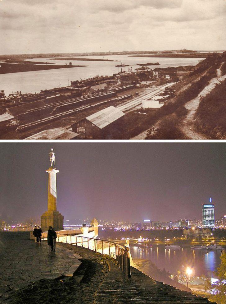 Antes e depois de alguns lugares pelo mundo 12