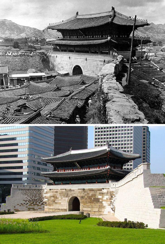 Antes e depois de alguns lugares pelo mundo 13