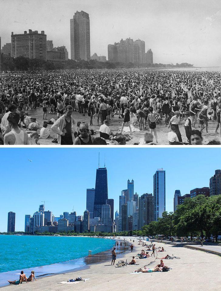 Antes e depois de alguns lugares pelo mundo 16