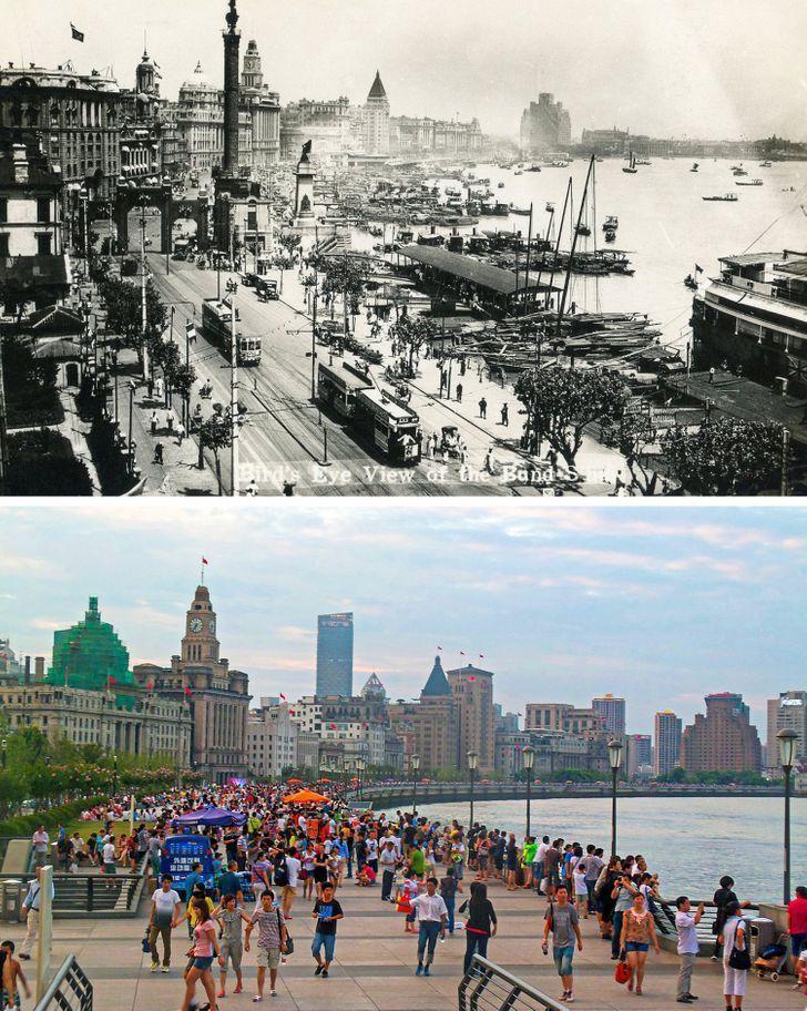 Antes e depois de alguns lugares pelo mundo 17