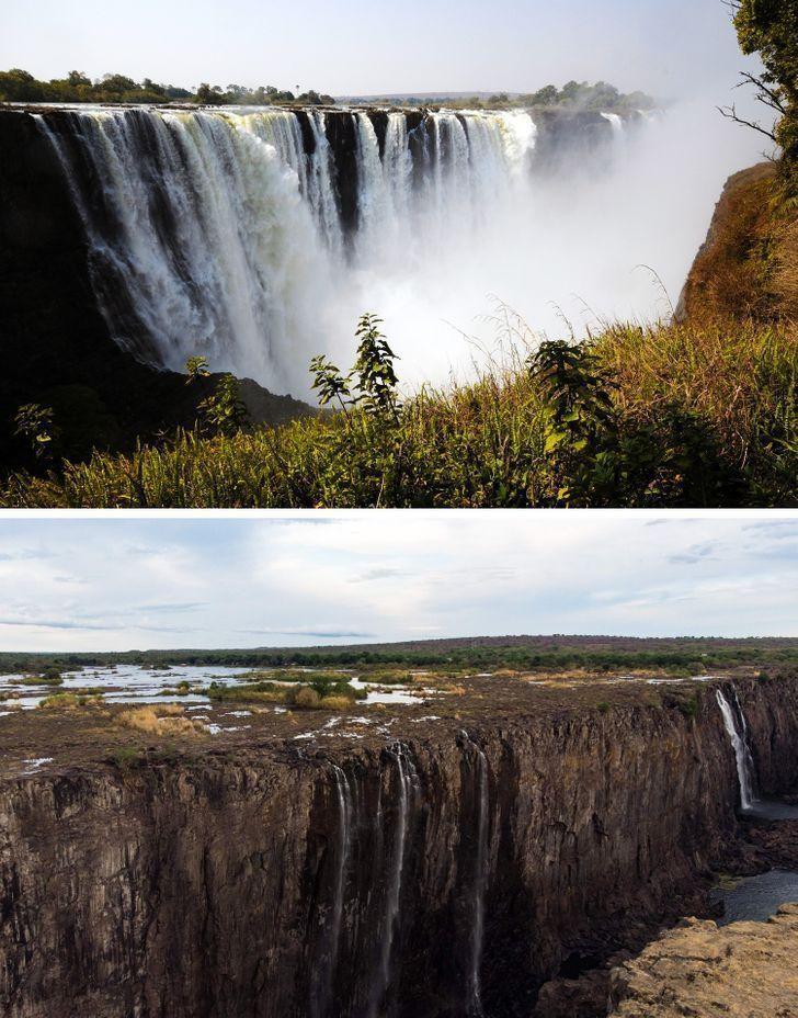 Antes e depois de alguns lugares pelo mundo 18