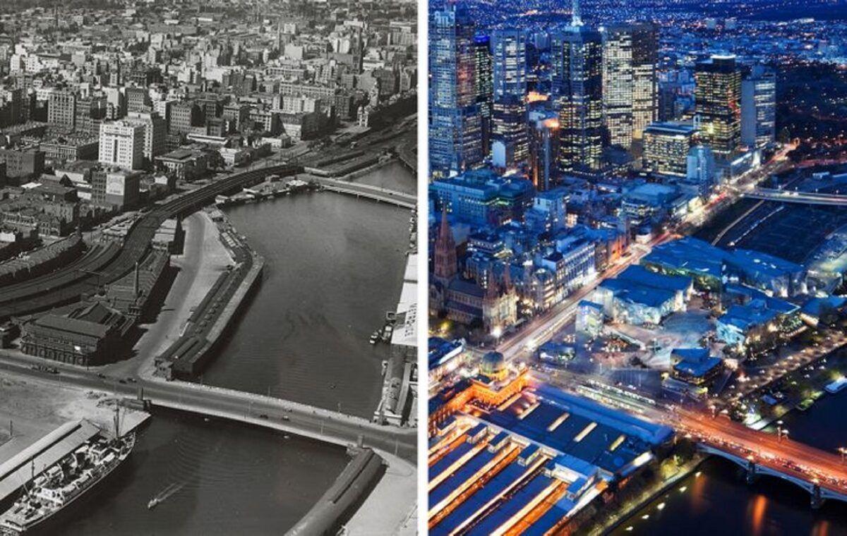 Antes e depois de alguns lugares pelo mundo 21