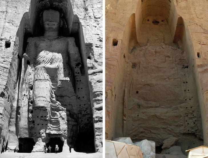Antes e depois de alguns lugares pelo mundo 3