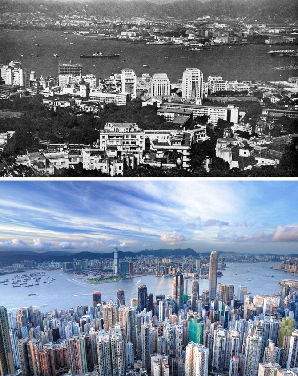 Antes e depois de alguns lugares pelo mundo 5