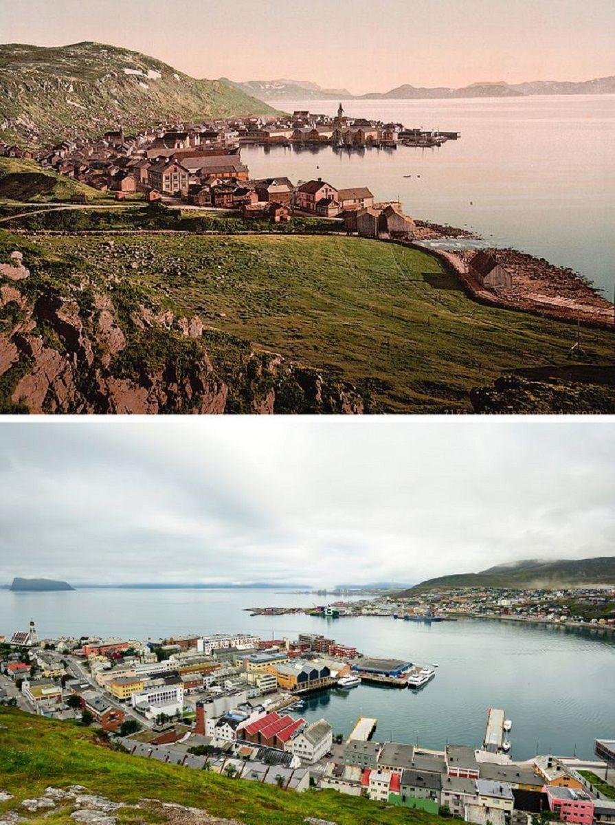 Antes e depois de alguns lugares pelo mundo 7