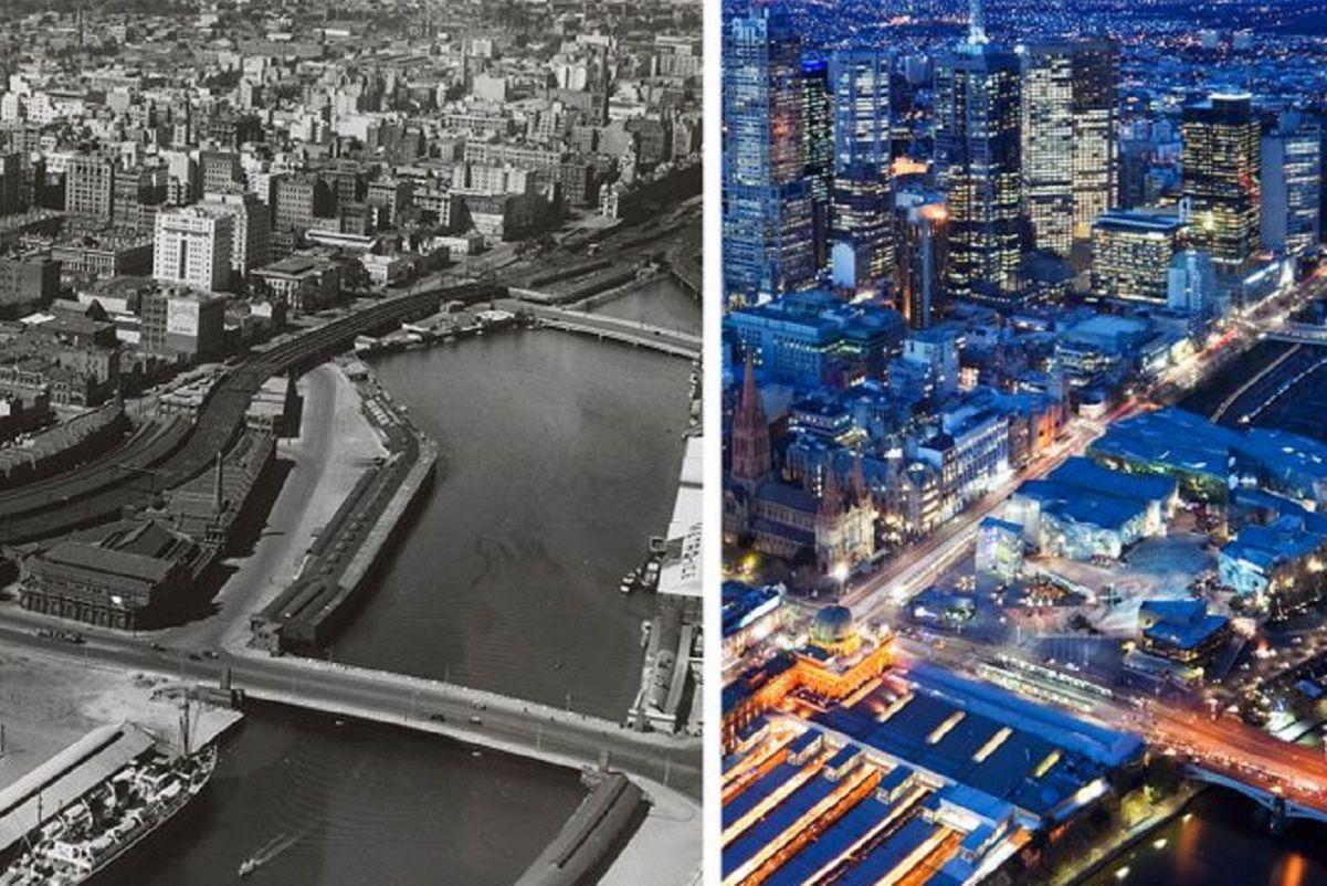 Antes e depois de alguns lugares pelo mundo