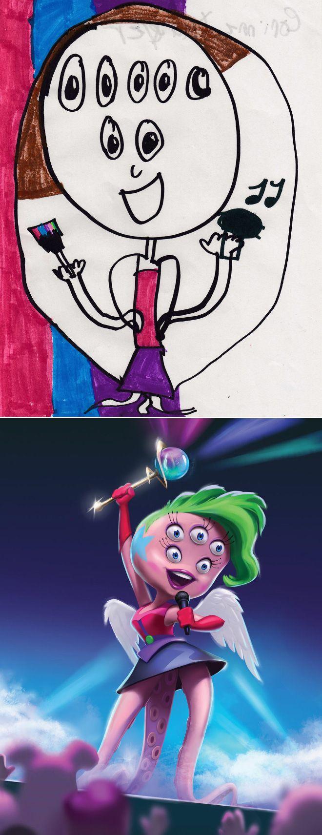 Em projeto Monster Project artistas recriam desenhos feitos por criancas 1