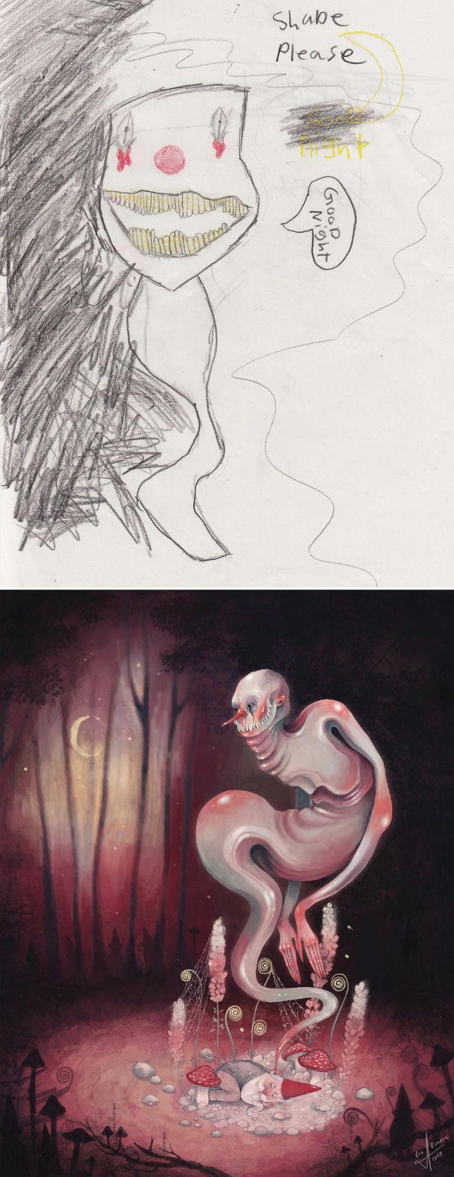 Em projeto Monster Project artistas recriam desenhos feitos por criancas 10