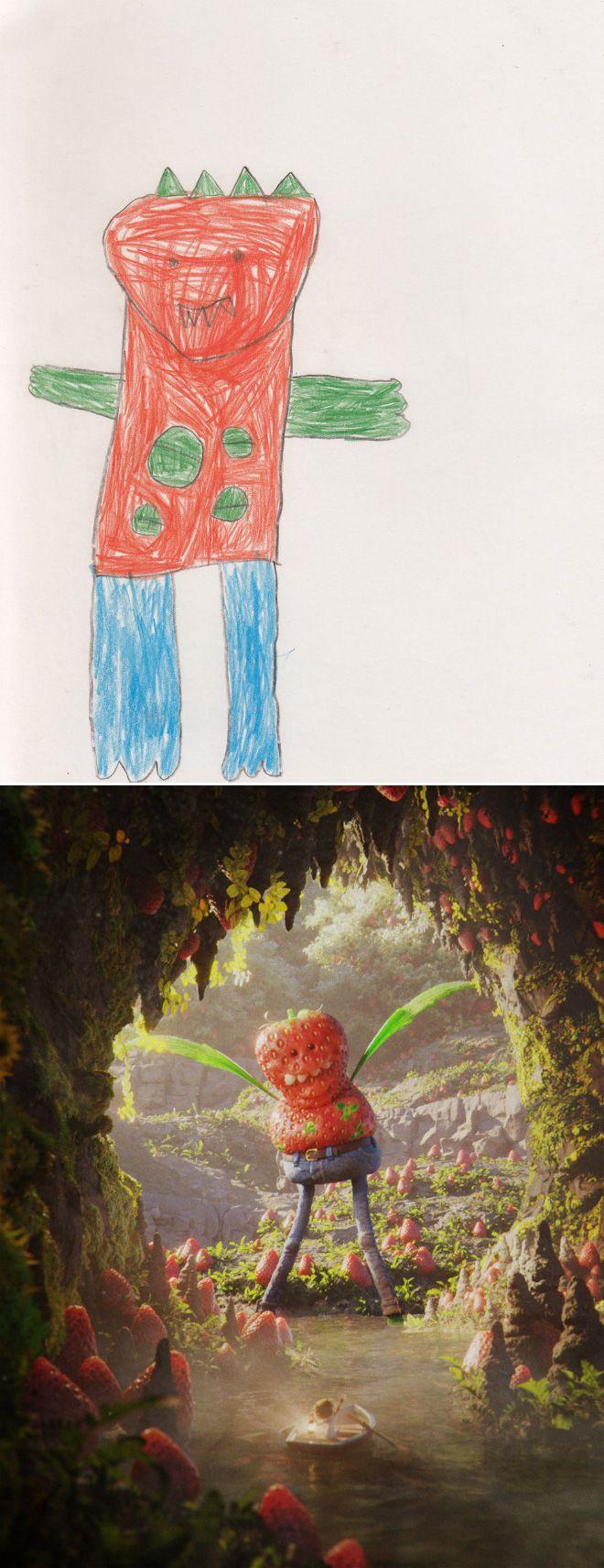 Em projeto Monster Project artistas recriam desenhos feitos por criancas 11