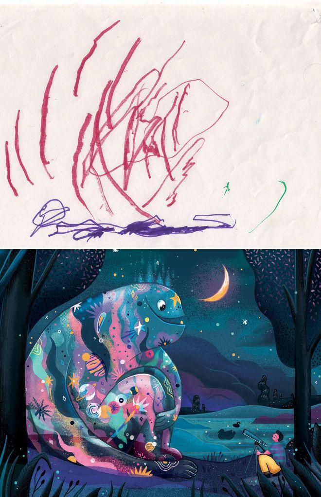 Em projeto Monster Project artistas recriam desenhos feitos por criancas 12