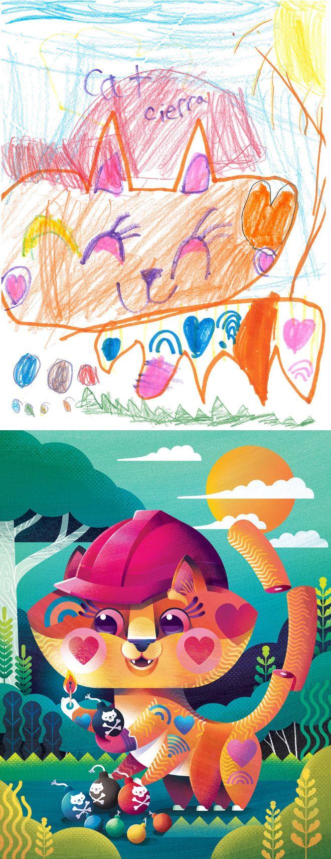 Em projeto Monster Project artistas recriam desenhos feitos por criancas 14
