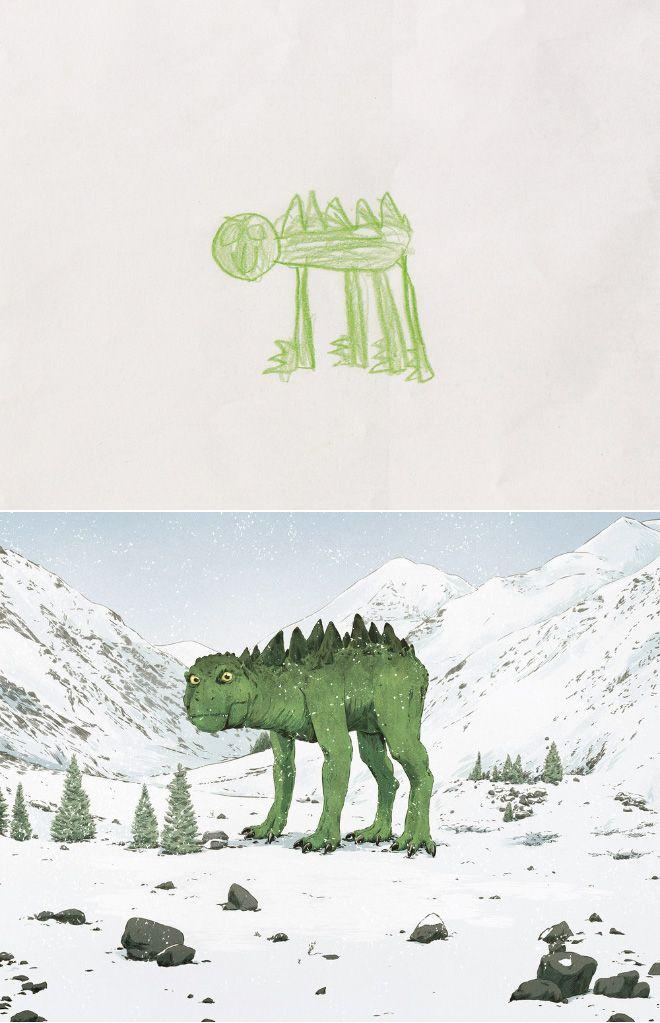 Em projeto Monster Project artistas recriam desenhos feitos por criancas 17