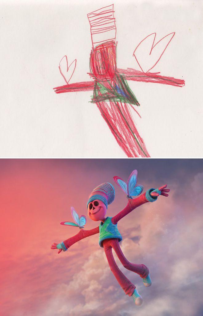 Em projeto Monster Project artistas recriam desenhos feitos por criancas 19