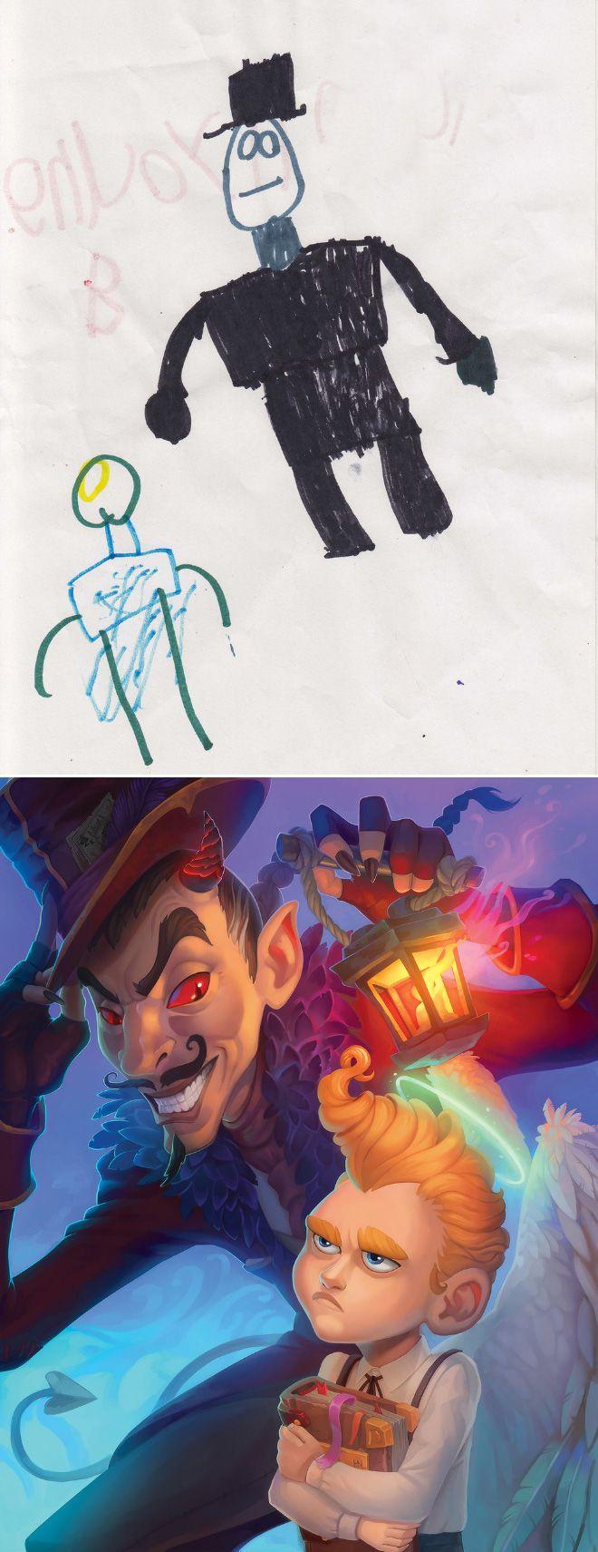 Em projeto Monster Project artistas recriam desenhos feitos por criancas 4