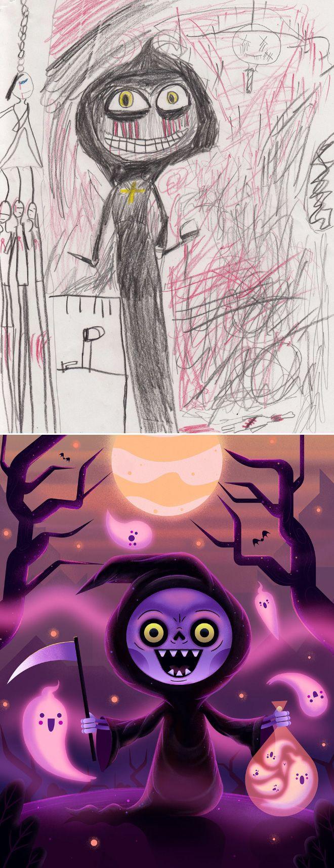 Em projeto Monster Project artistas recriam desenhos feitos por criancas 6