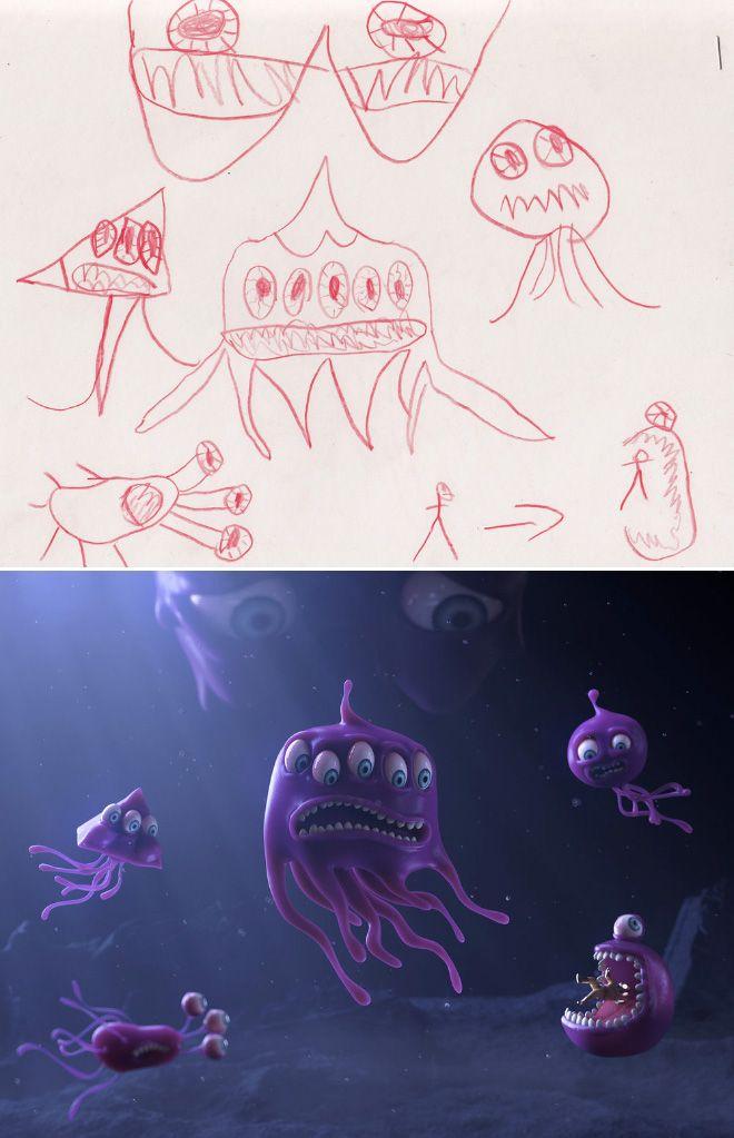 Em projeto Monster Project artistas recriam desenhos feitos por criancas 7