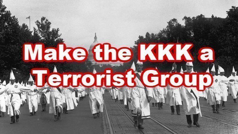 Ajude a fazer que o Ku Klux Klan seja considerada uma organização terrorista