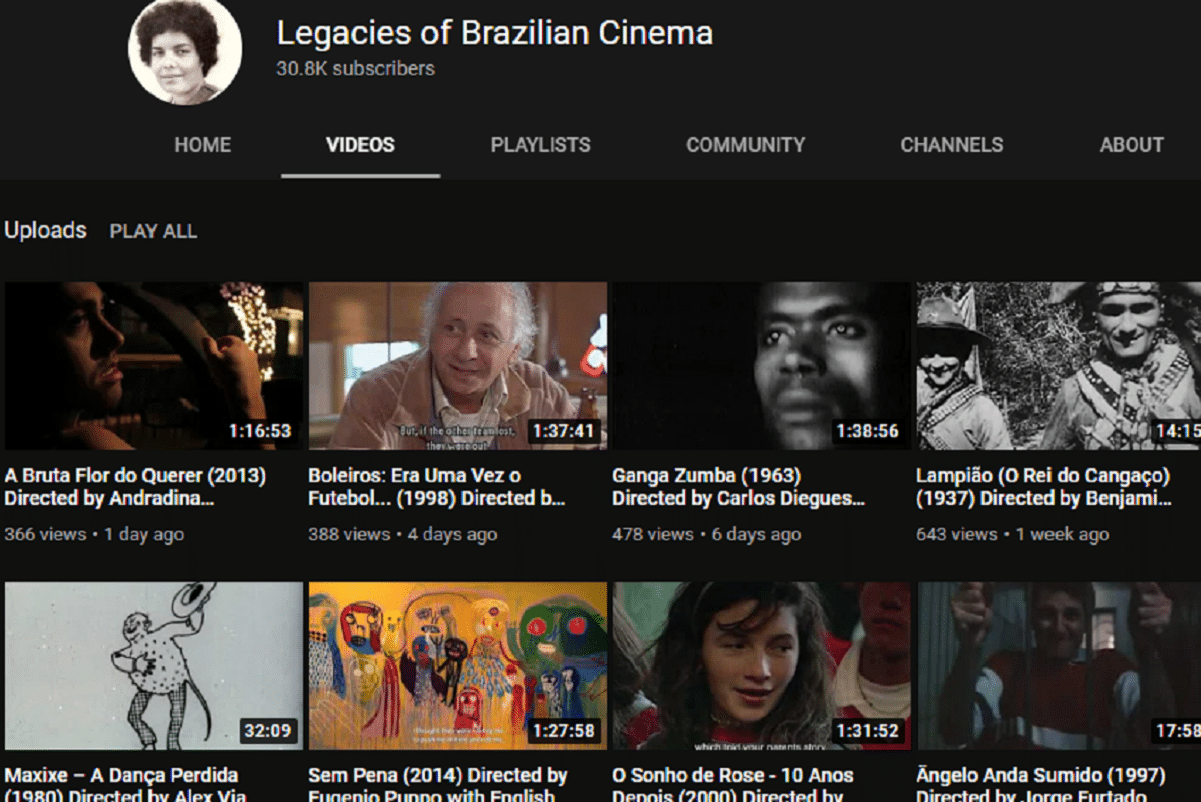 Legacies of Brazilian Cinema: canal no YouTube tem mais de 400 filmes gratuitos do cinema nacional