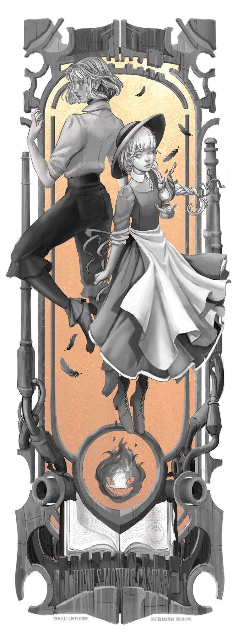Personagens do Studio Ghibli em Art Nouveau 11