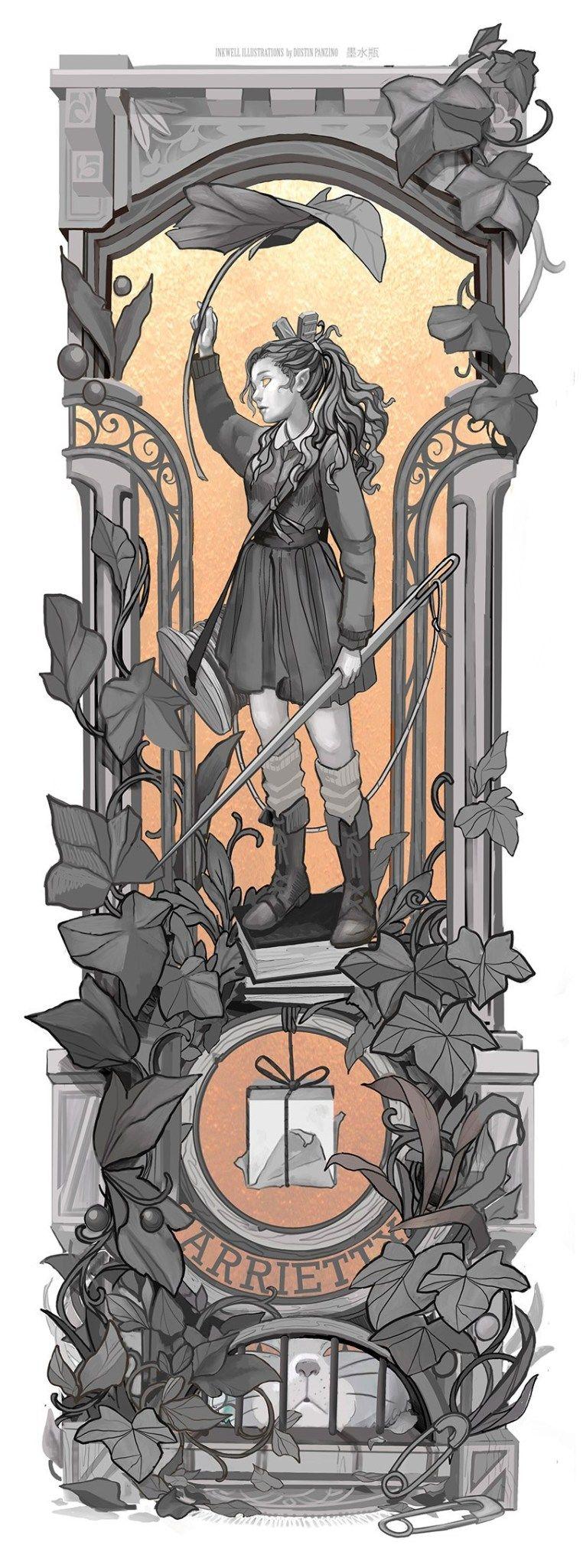 Personagens do Studio Ghibli em Art Nouveau 3