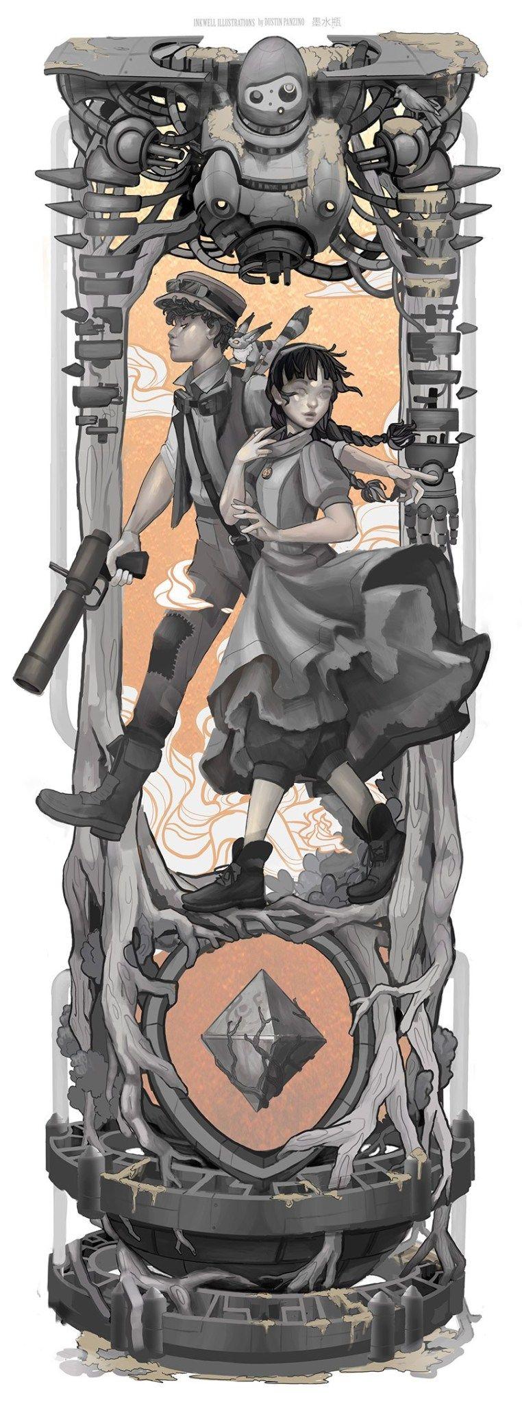 Personagens do Studio Ghibli em Art Nouveau 6