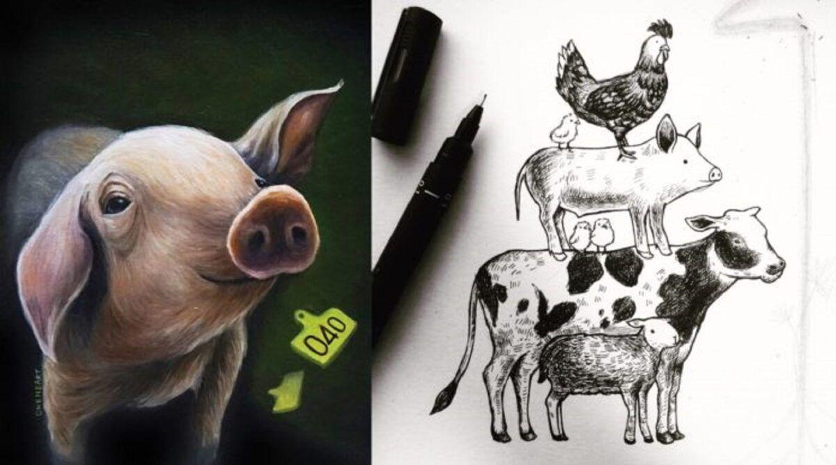 Samantha Fung chinesa cria ilustracoes para estimular compaixao pelos animais 2