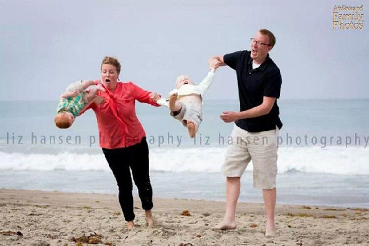 Fotos de família nada fotogênicas