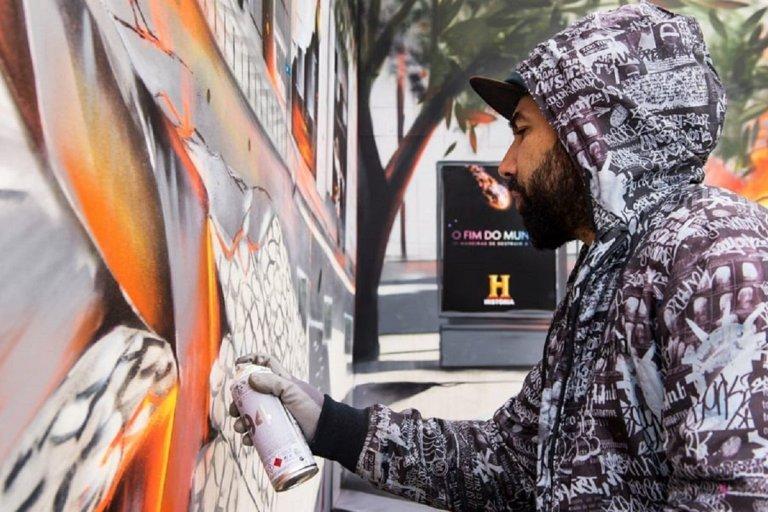 Sergio Odeith conheca as pinturas realistas em grafite 3D do artista portugues 1