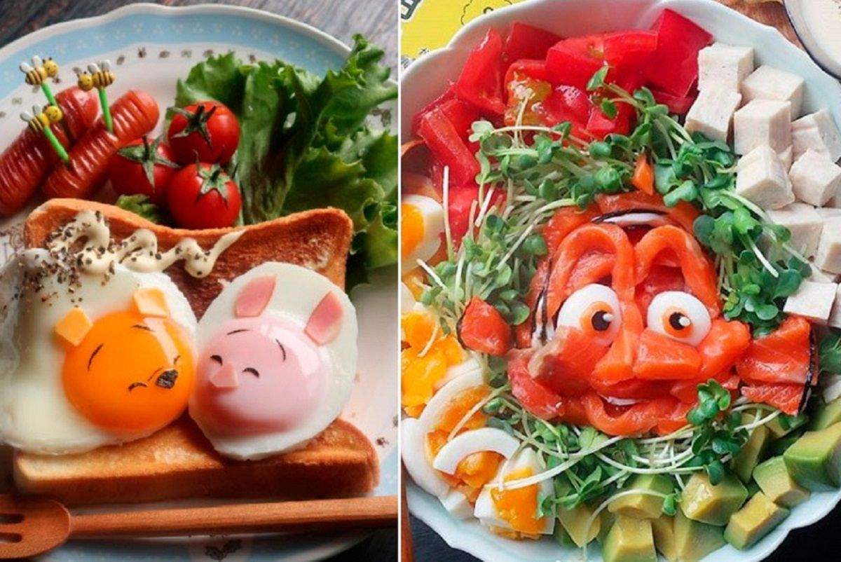 etn.co_mam: artista japonês transforma comida em personagens da Disney e da Pixar