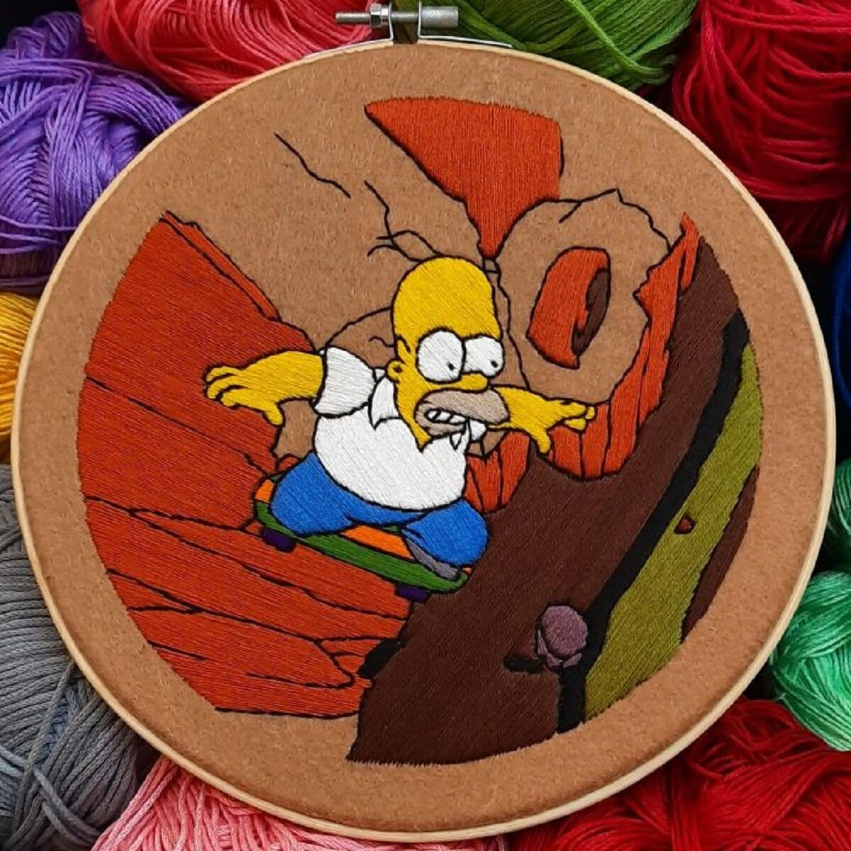 Artista Gabriela Martinez cria bordados de cenas de Os Simpsons 15