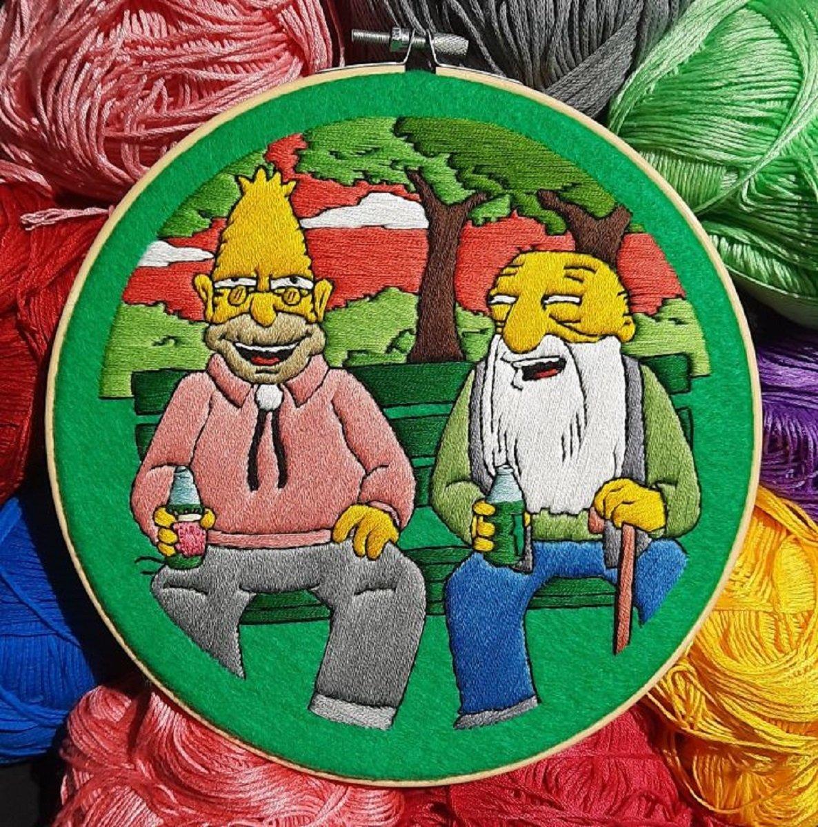 Artista Gabriela Martinez cria bordados de cenas de Os Simpsons 28