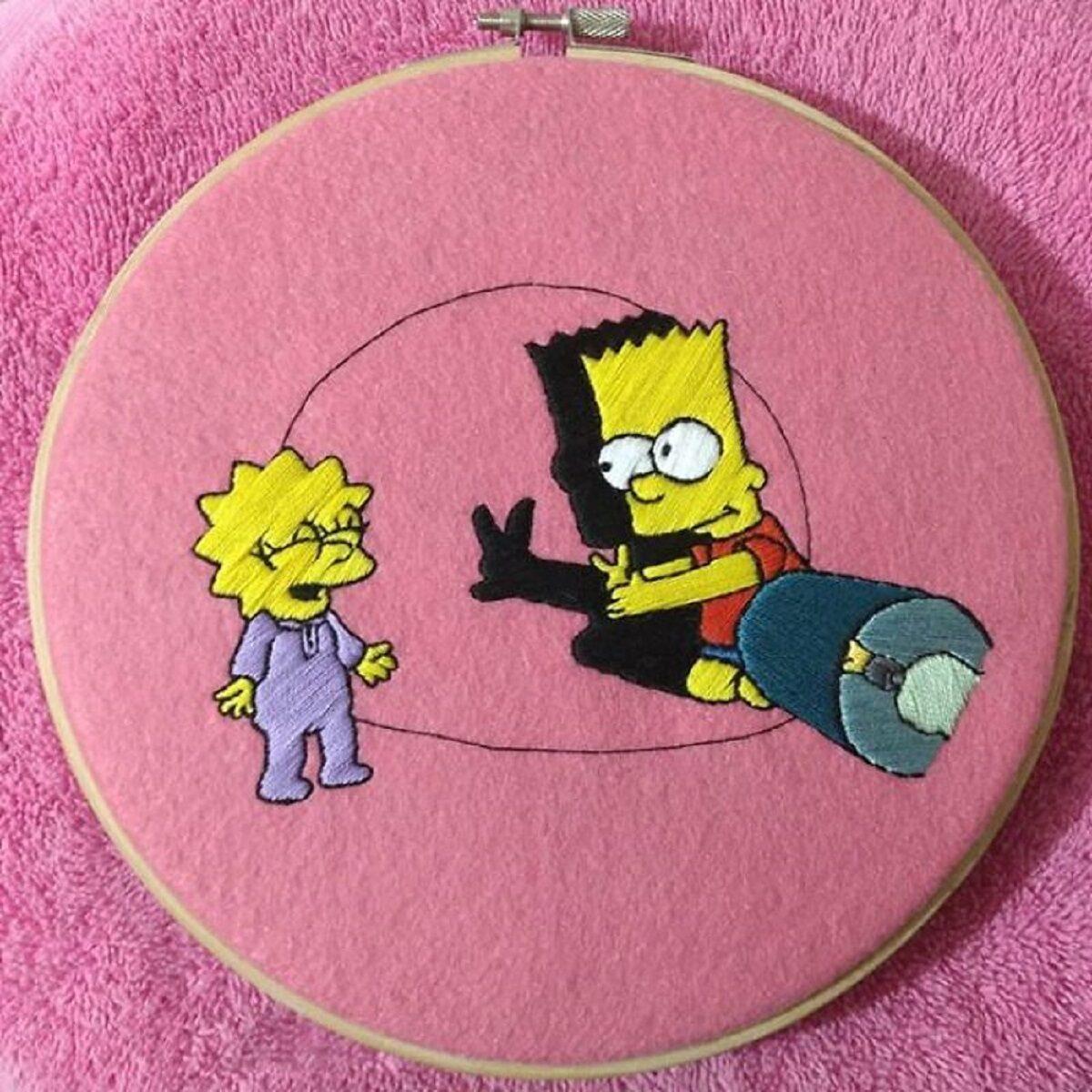 Artista Gabriela Martinez cria bordados de cenas de Os Simpsons 4