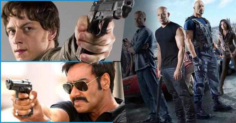 Cenas de ação de Hollywood x Cenas de ação da Índia