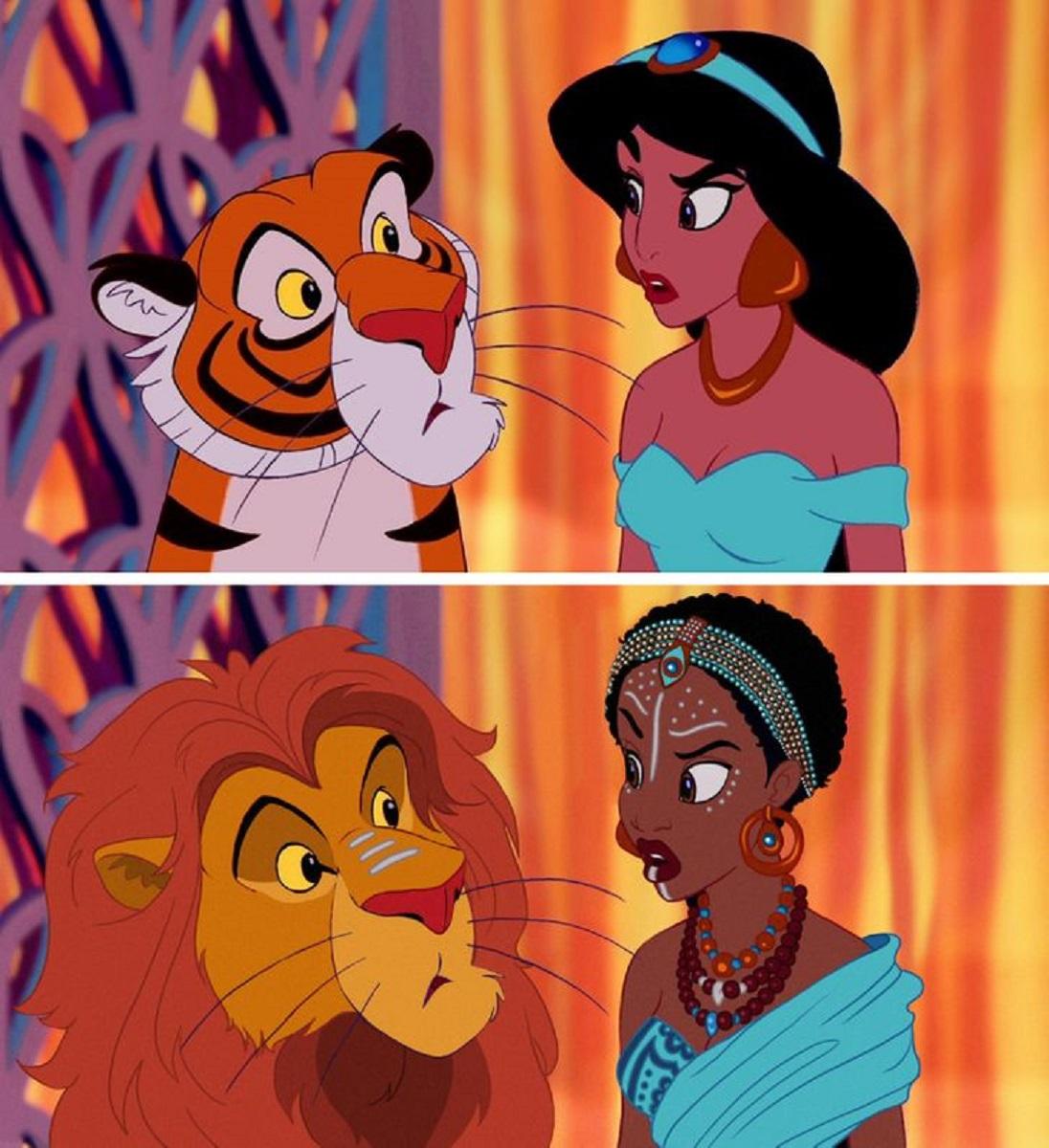 Let There Be Doodles projeto mostra como seriam algumas princesas da Disney com etnias diferentes 12