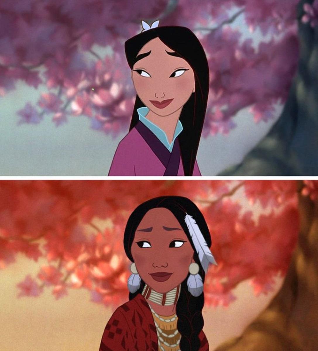 Let There Be Doodles projeto mostra como seriam algumas princesas da Disney com etnias diferentes 14