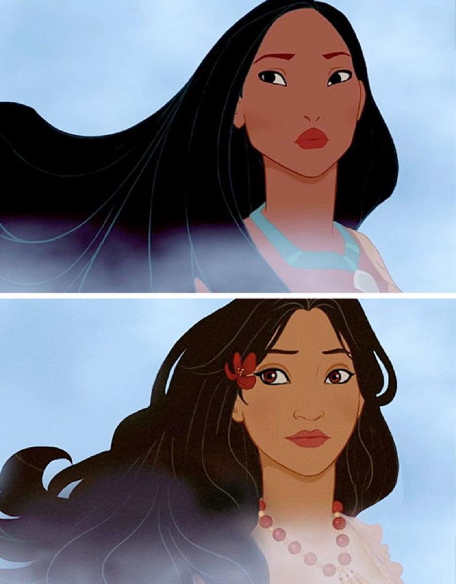 Let There Be Doodles projeto mostra como seriam algumas princesas da Disney com etnias diferentes 2