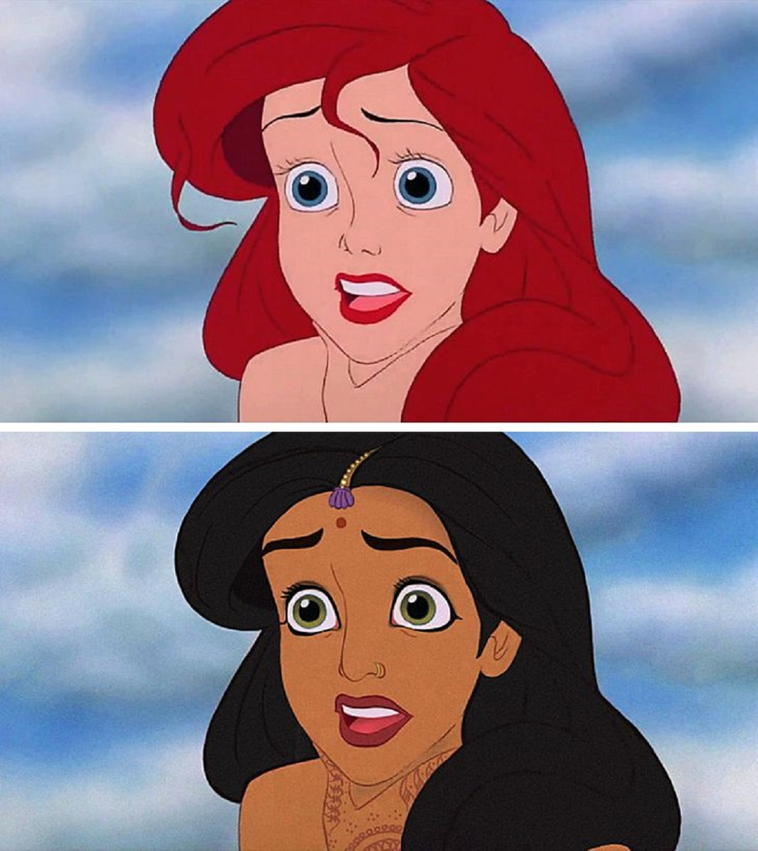 Let There Be Doodles projeto mostra como seriam algumas princesas da Disney com etnias diferentes 6