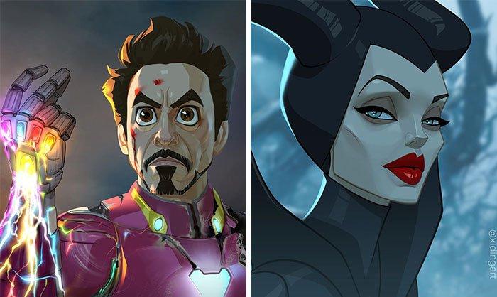 Personagens da cultura pop em versao cartoon 1