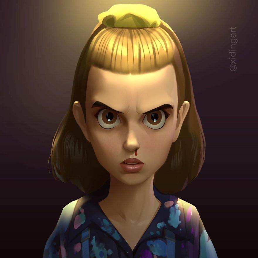 Personagens da cultura pop em versao cartoon 16
