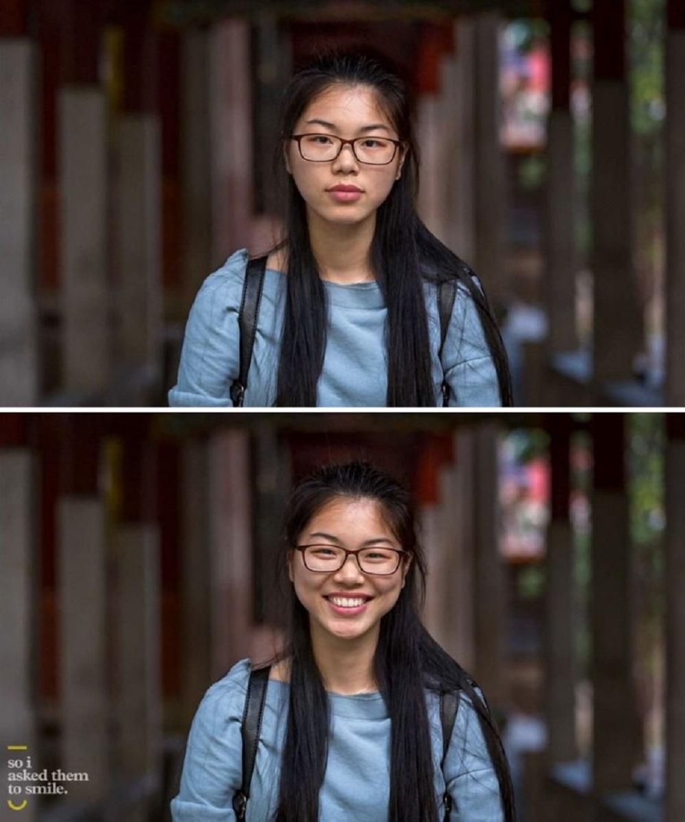 Pessoas antes e depois de um sorriso 10